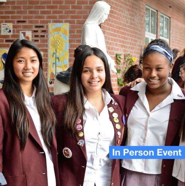 Three students from Notre Dame Academy on Campus