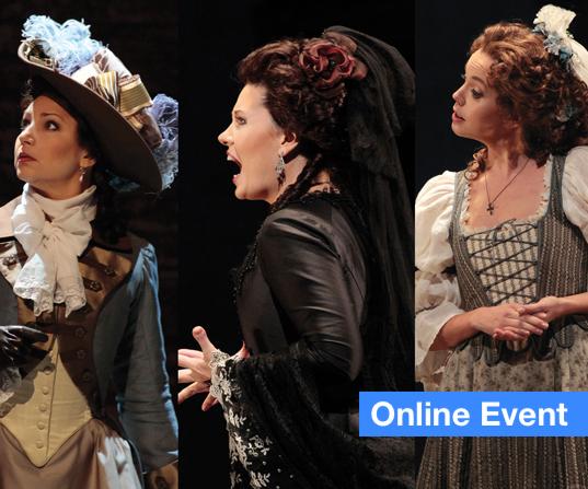 Three Opera Women Characters in Costume