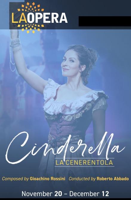 Cenerentola or Cinderella in LA Opera Poster
