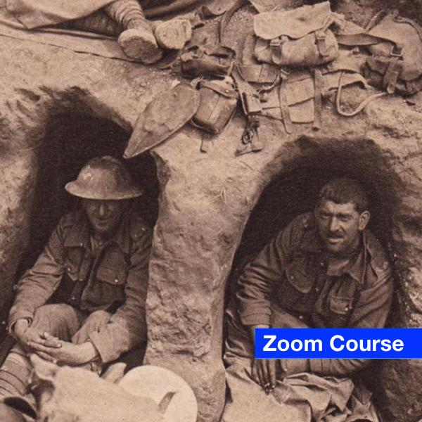 Old Photo of Two Men in WW1 Trench